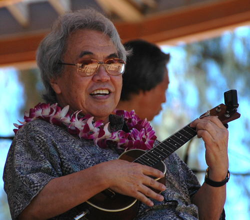 Herb Ohta Sr. at the July 2008 Ukulele Festival