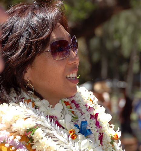 Picture of Kathy Sakuma at the 2008 Hawaii Ukulele Festival