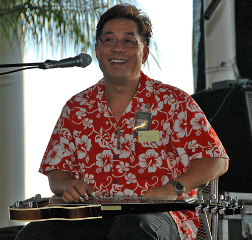 Alan Akaka on the Steel Guitar